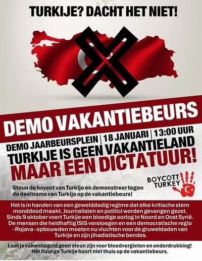 Koerden demonstreren bij Vakantiebeurs tegen Turkije als vakantieland