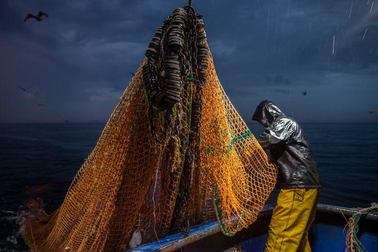 Londen wil onvoorwaardelijke toegang tot Europese wateren voor de Britse vissers Beeld Getty Images