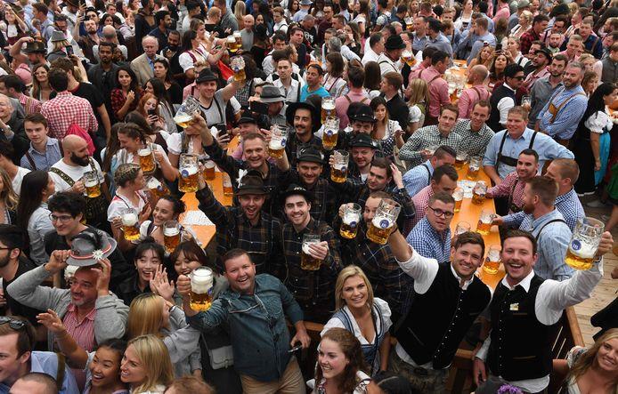 Een beeld uit het Oktoberfest in Duitsland.
