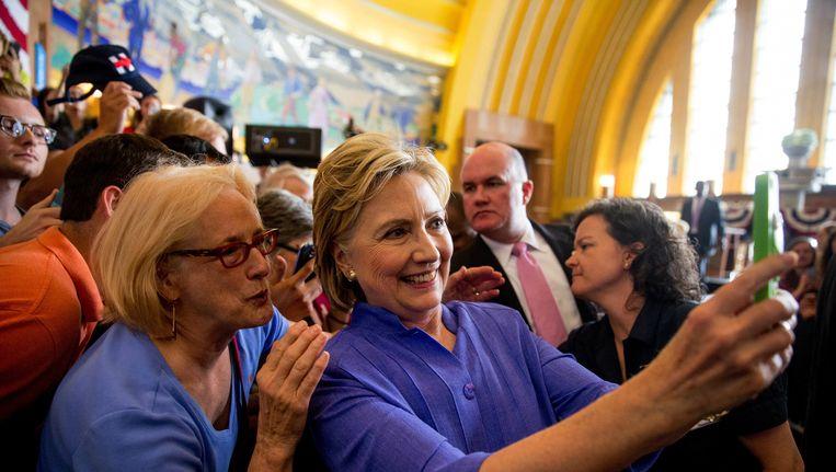 Clinton op campagne in Ohio. Beeld AP