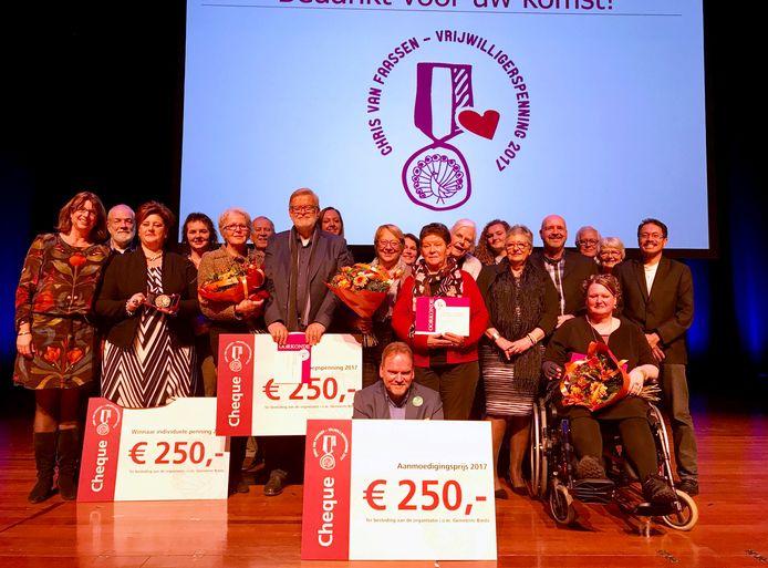 Alle genomineerden én winnaars van de prijs.