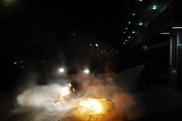 De buitenbrand in de Gedenklaan in Gouda.