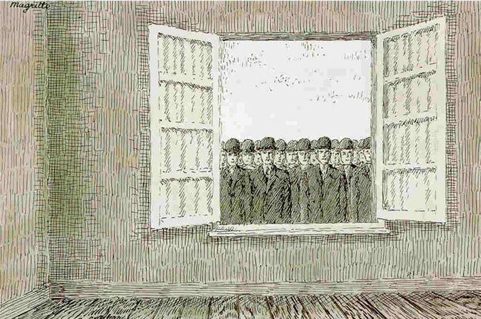 'Le mois des vendanges' van René Magritte.