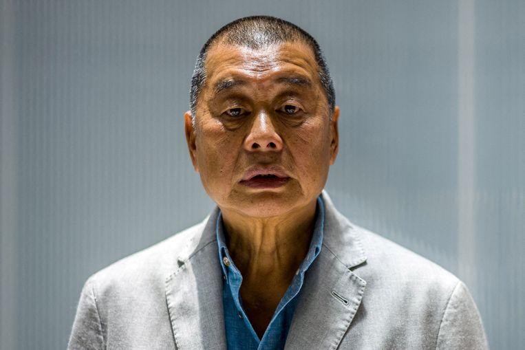 Mediatycoon Jimmy Lai. Beeld AFP