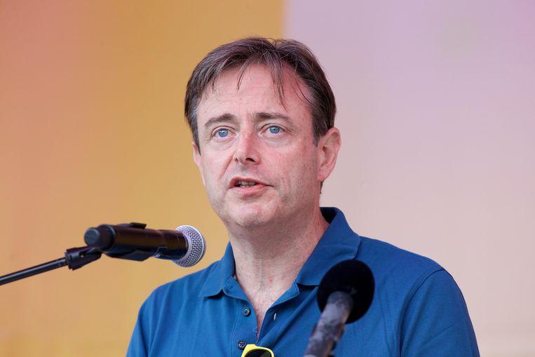 Bart De Wever tijdens de familiedag van N-VA, afgelopen zondag. Beeld BELGA