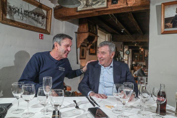 Roger De Vlaeminck mocht in juni niet ontbreken op de 75ste verjaardag van Eddy Merckx.