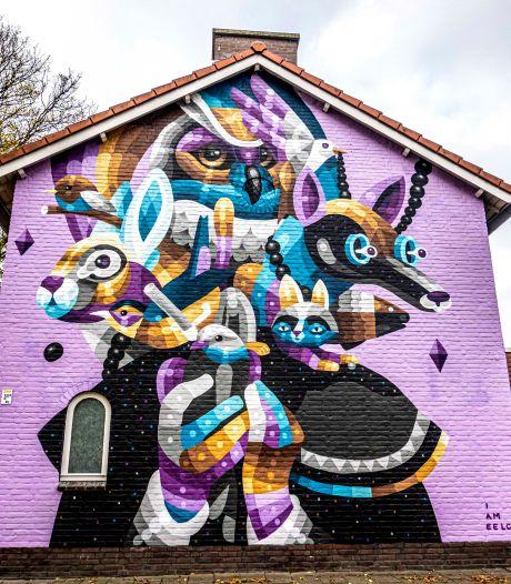 Volop dieren in laatste Tilburgse muurschildering van het jaar (wordt vervolgd)