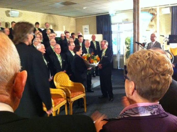 Fons Krabben is onderscheiden. foto De Gelderlander