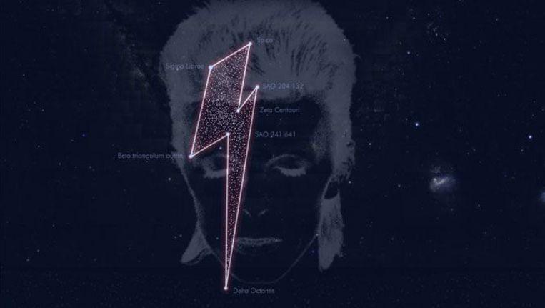 David Bowie kreeg van Studio Brussel een eigen sterrenbeeld. Beeld VRT