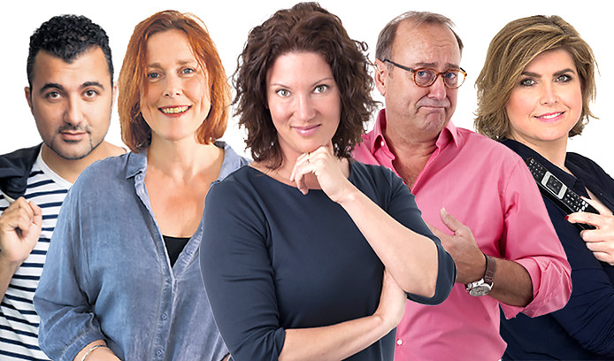 Bn DeStem columnisten Özcan Akyol, Yolanda Sjoukes, Hille van der Kaa, John Bas en Angela de Jong