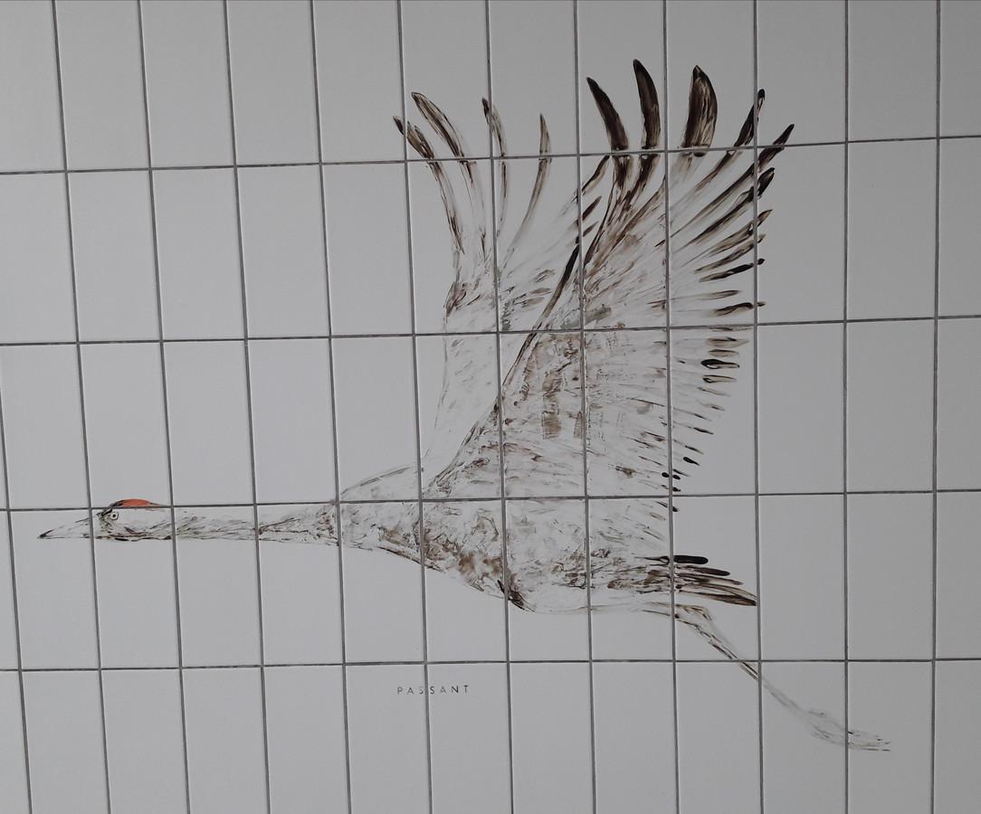 De passant, een van de dertien vogeltjes van Maarten Kolk en Guus Kusters.