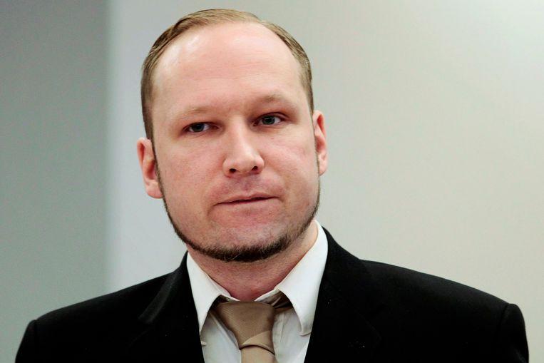 Anders Behring Breivik richtte vijf jaar geleden een bloedbad aan in Noorwegen. Mogelijk inspireerde hij de schutter in München. Beeld REUTERS