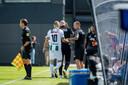 Arjen Robben en Danny Buijs tijdens de voorbereiding op het seizoen.