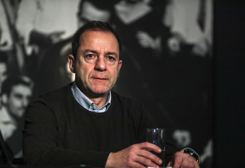 Dimitris Lignadis trad twee weken geleden al af als artistiek directeur van het Nationaal Theater.  Beeld AP