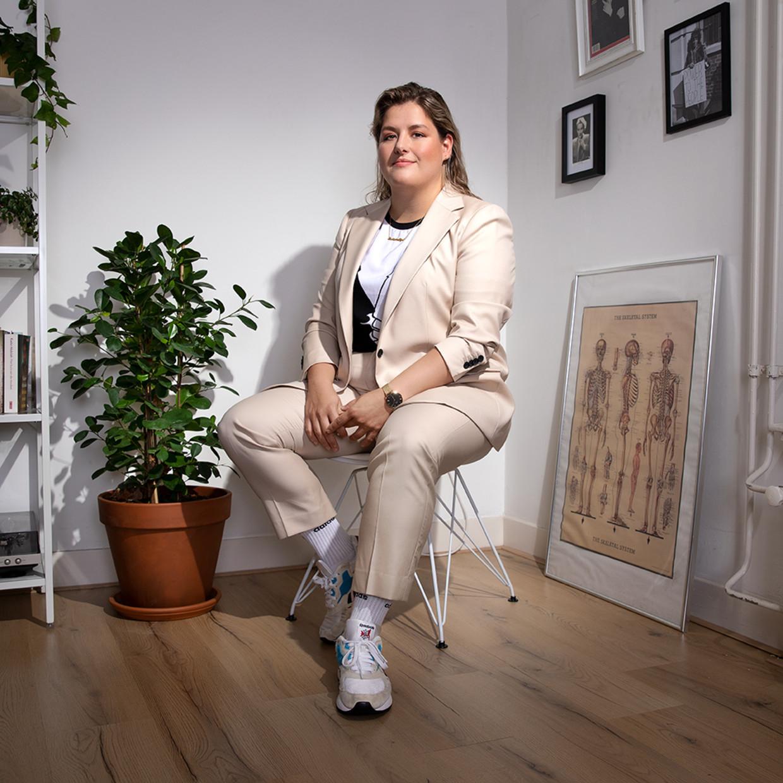 Annefleur Schipper: 'We wilden een lesbisch clubhuis oprichten.' Beeld Harmen Meinsma / Visagie: Ed Tijsen