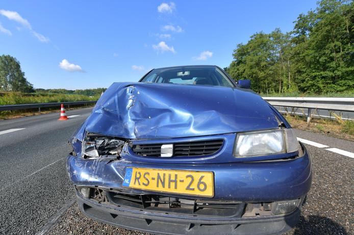 Ongeluk op A67 bij Geldrop.