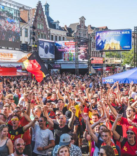 EK voetbal: cafés mogen schermen zetten, groot scherm op een plein nog niet uitgesloten
