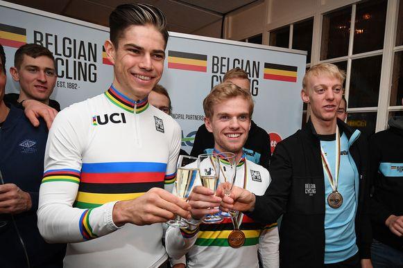 Wout Van Aert, Eli Iserbyt en Michael Vanthourenhout.