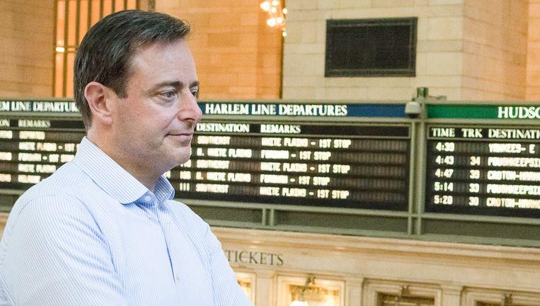 Bart De Wever tijdens een bezoek aan Grand Central Station in New York. Beeld BELGA