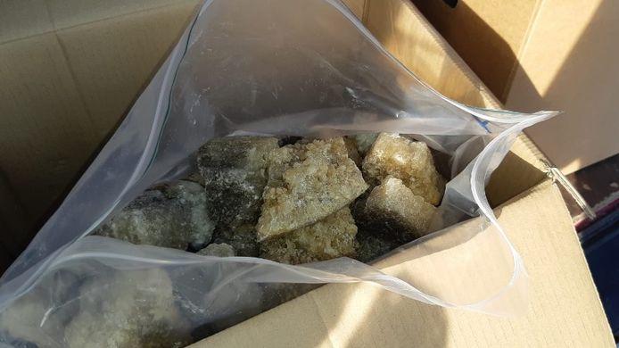 Een partij mdma-kristallen.