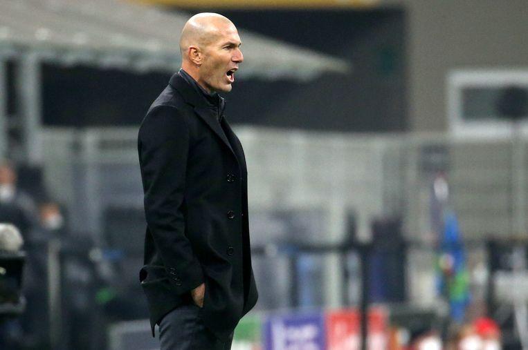 Zinedine Zidane, coach van Real Madrid Beeld EPA