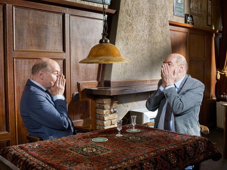 Wim en Hans in Hotel-Café 't Anker in Leeuwarden. Beeld Jouk Oosterhof