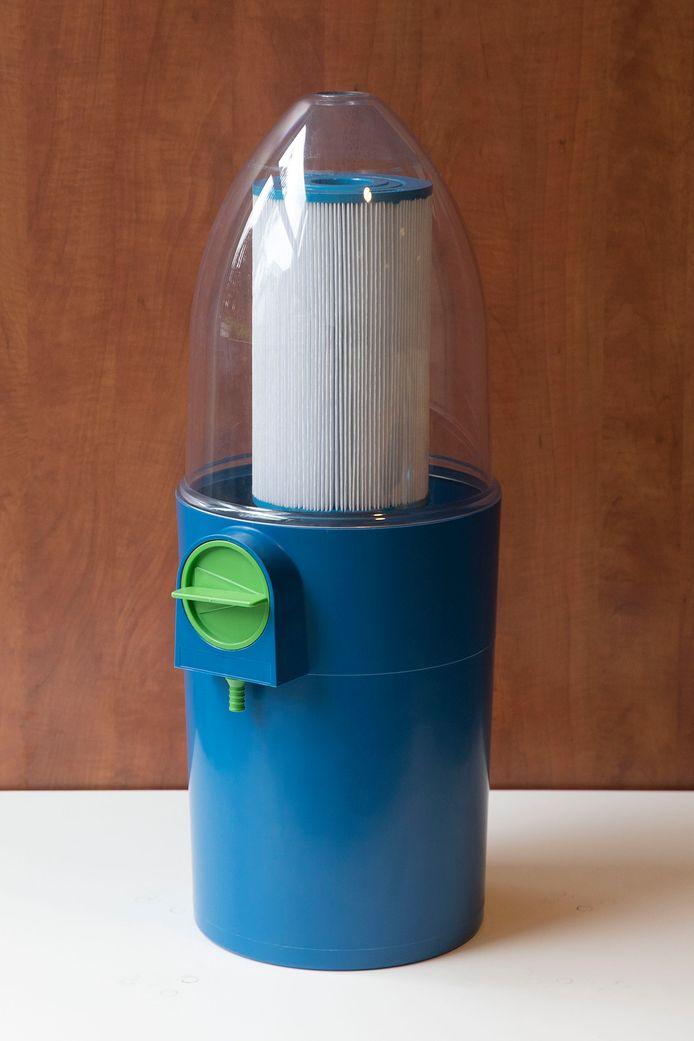 Automatische reiniger voor zwembad- en jacuzzi filters.