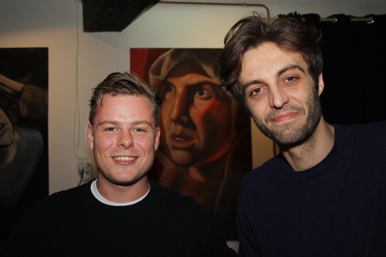 Sijmen Stronks (Kultlab) en Florens Kool (Volmolenaar kunst).