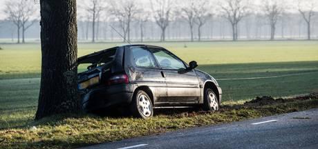 Auto knalt tegen boom door verraderlijke gladheid in Goirle