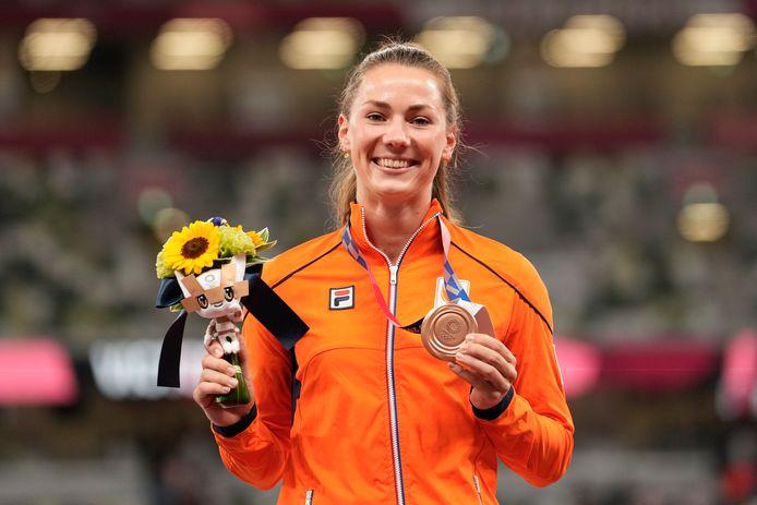 Brons: Emma Oosterwegel (atletiek, zevenkamp, vrouwen)