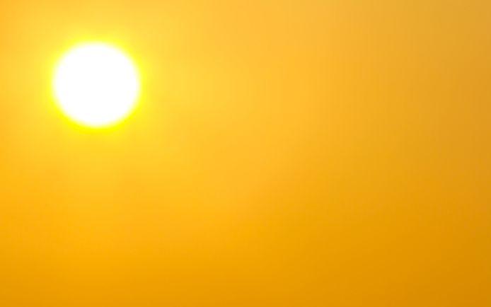Het wordt vandaag tropisch warm, met temperaturen tot 33 graden.