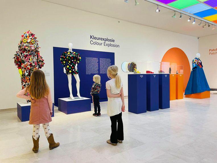In Museum Jan kunnen kinderen met de patchworktechniek aan de slag. Beeld Eddy Wenting