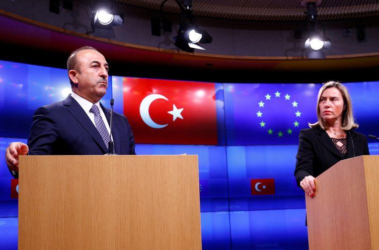 De Turkse minister van Buitenlandse Zaken Mevlut Cavusoglu bracht een bezoek aan de Europese Commissie en hield een persconferentie in het bijzijn van Europees vicevoorzitter Federica Mogherini.