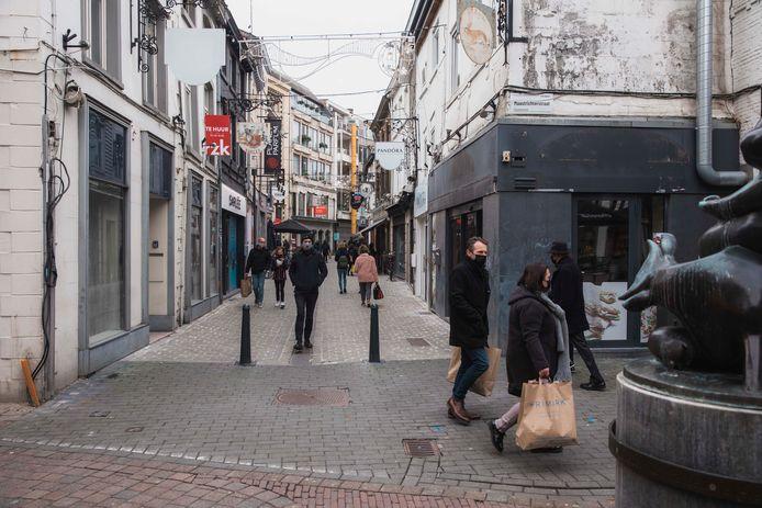 Illustratiebeeld shoppers in Hasselt.