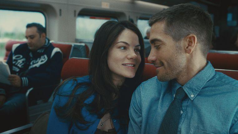 Michelle Monaghan en Jake Gyllenhaal in Source Code van Duncan Jones. Beeld x