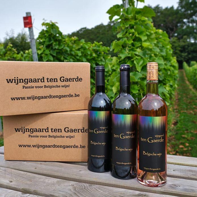 Wijn van wijngaard ten Gaerde.