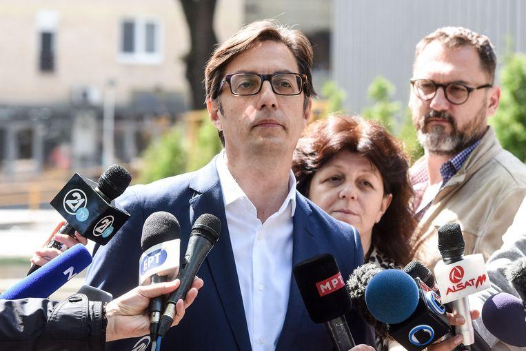 Stevo Pendarovski van de regerende sociaal-democraten.