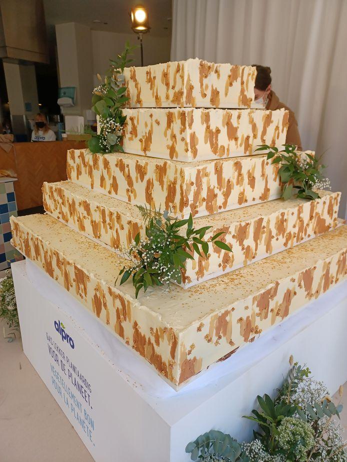 De grootste vegan cake, een wereldrecord.