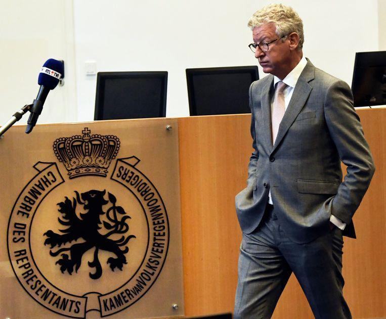 Minister Pieter De Crem in Brussel. Beeld Photo News