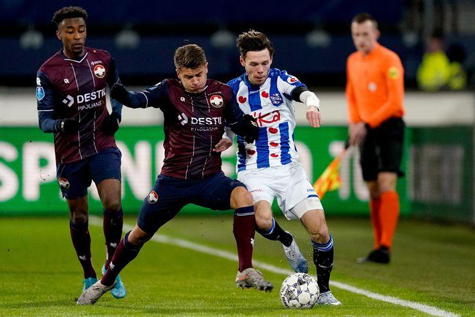 Heerenveen-Willem II eindigde eind vorig jaar in 1-2.