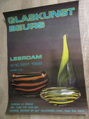 Poster van de allereerste Glaskunstbeurs in Leerdam in 1989.