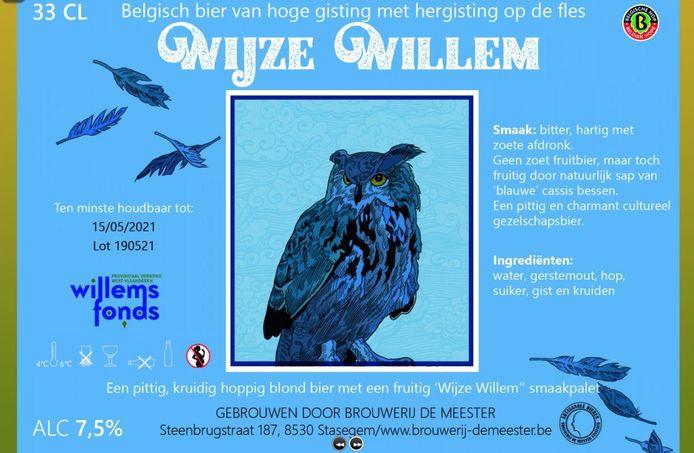 Het etiket van Wijze Willem.