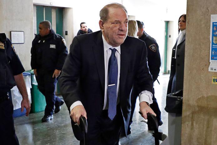 Harvey Weinstein in de rechtbank in New York, februari 2020.