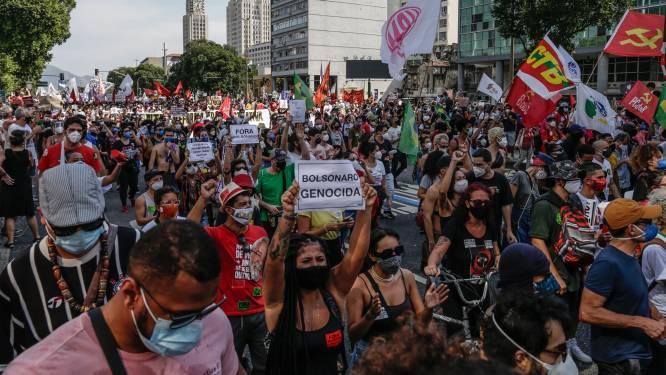 Tienduizenden Brazilianen demonstreren tegen president Bolsonaro