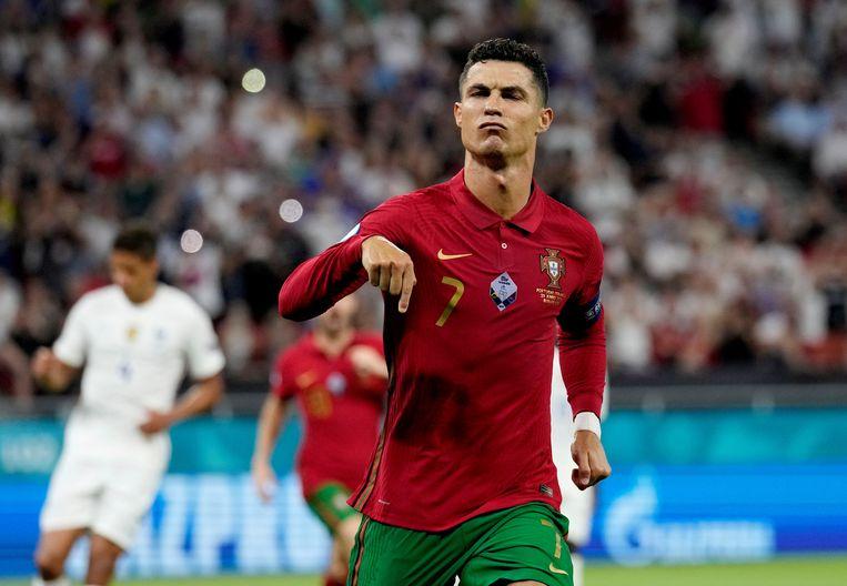 De grote ster van Portugal: Cristiano Ronaldo.  Beeld Pool via REUTERS