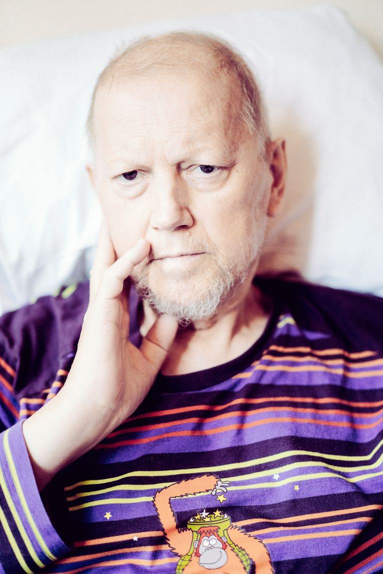 Rik Pareit in het ziekenhuis van Lier, kort voor zijn overlijden: 'De dood aanvaarden kun je alleen als je een heel mooi leven hebt gehad.' Beeld Stefaan Temmerman