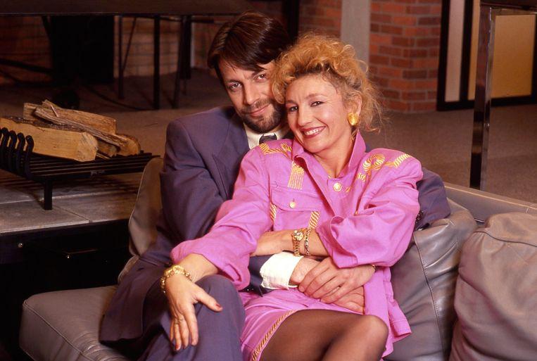 Martine was er vanaf dag één bij toen 'Familie' begin jaren 90 van start ging. Hier met haar toenmalige tv-echtgenoot Karel Deruwe (Guido).