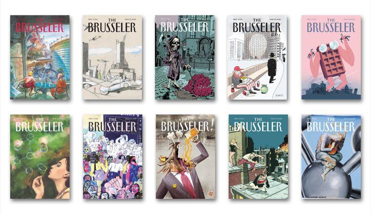 Enkele covers van 'The Brusseler'. Beeld DM