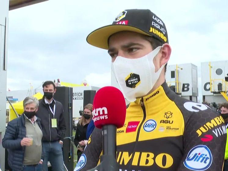 """Wout van Aert: """"Ik durfde niet te geloven dat ik gewonnen had"""""""