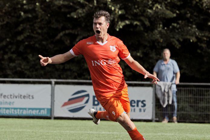 Thomas Schilder zorgde voor het tweede en beslissende doelpunt van Dongen.